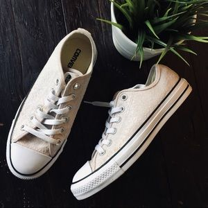 CONVERSE Limited Ed All Stars Crystal Sneakers 8